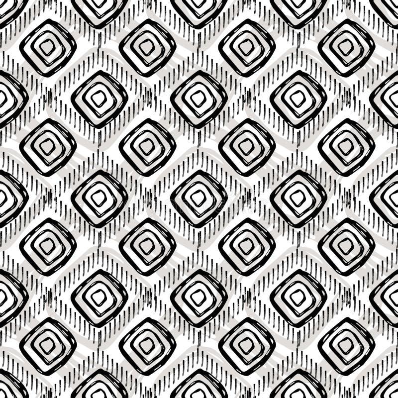 Naadloos hand-drawn patroon De vorm van een ruit royalty-vrije illustratie