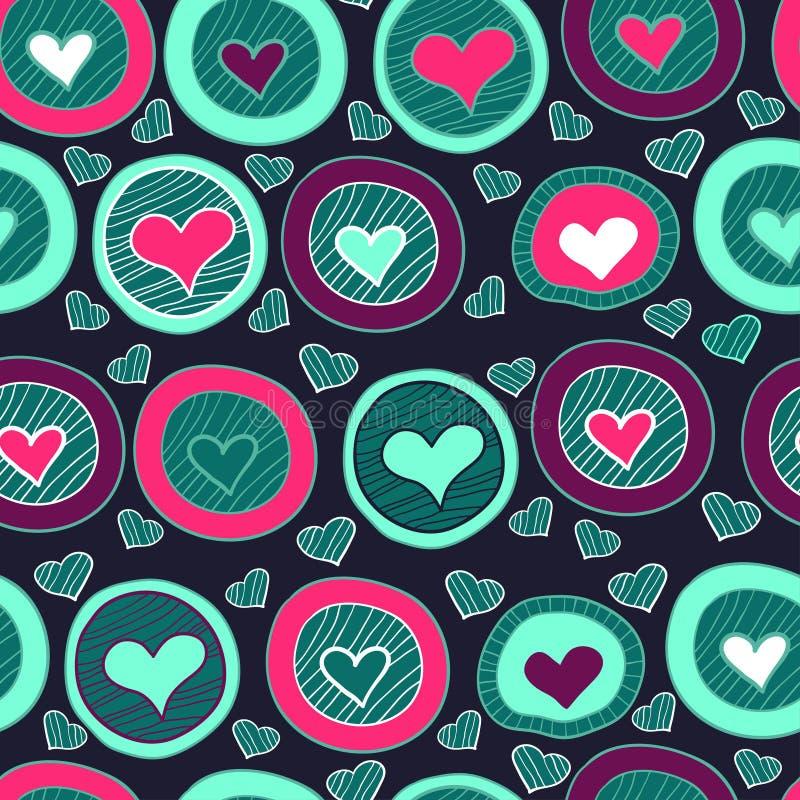 Naadloos hartpatroon voor de dag van de valentijnskaart vector illustratie