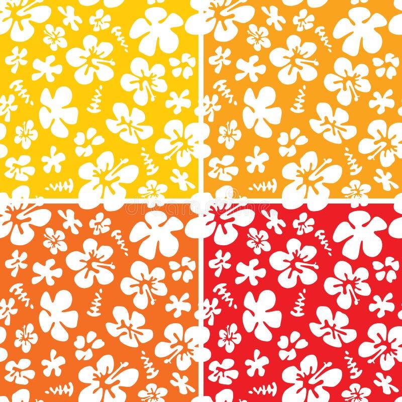 Naadloos Hawaiiaans Patroon vector illustratie