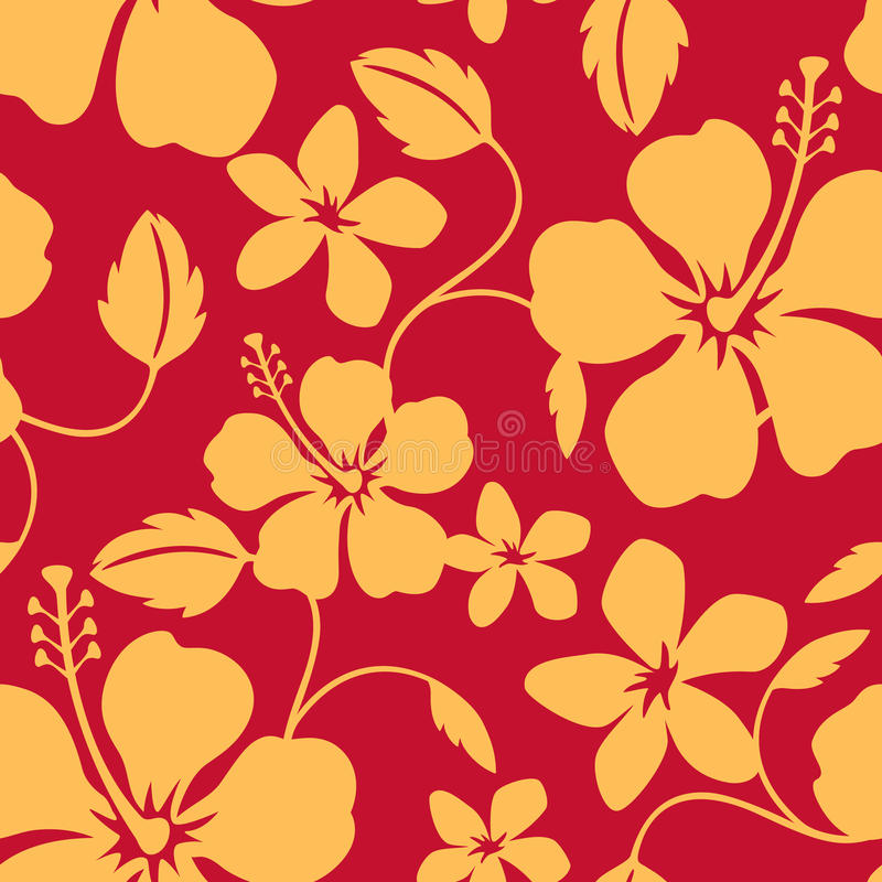 Naadloos Hawaiiaans Patroon Hula vector illustratie