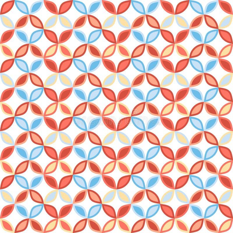 Naadloos helder geometrisch cirkelpatroon vector illustratie