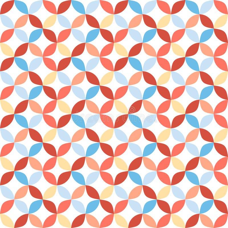 Naadloos helder geometrisch cirkelpatroon royalty-vrije illustratie