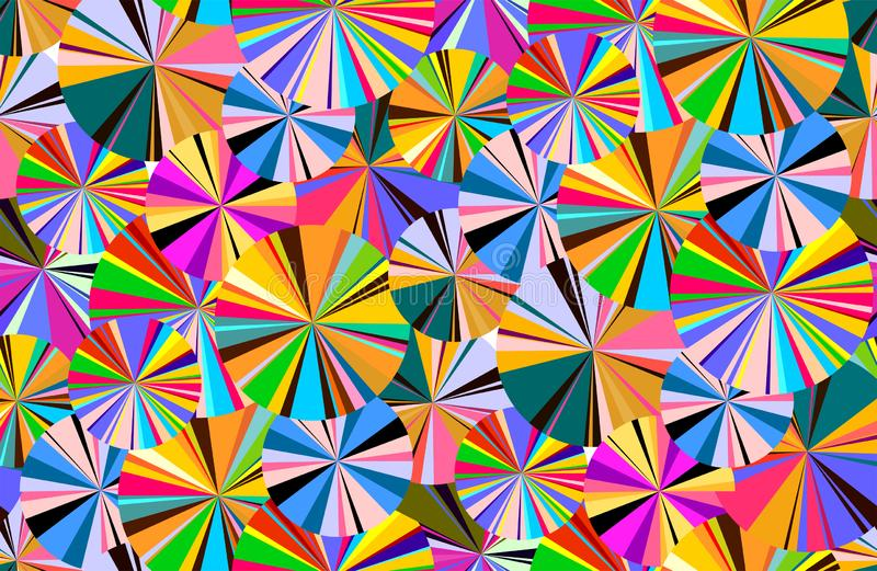 Naadloos helder patroon van cirkels en lijnen Modetrend in art. Vector illustratie Geïsoleerdj op witte achtergrond vector illustratie