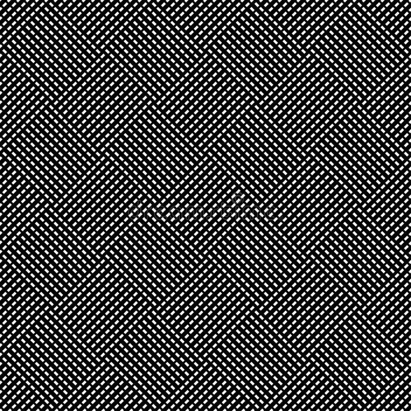 Naadloos (herhaalbaar) geometrisch abstract zwart-wit patroon til stock illustratie