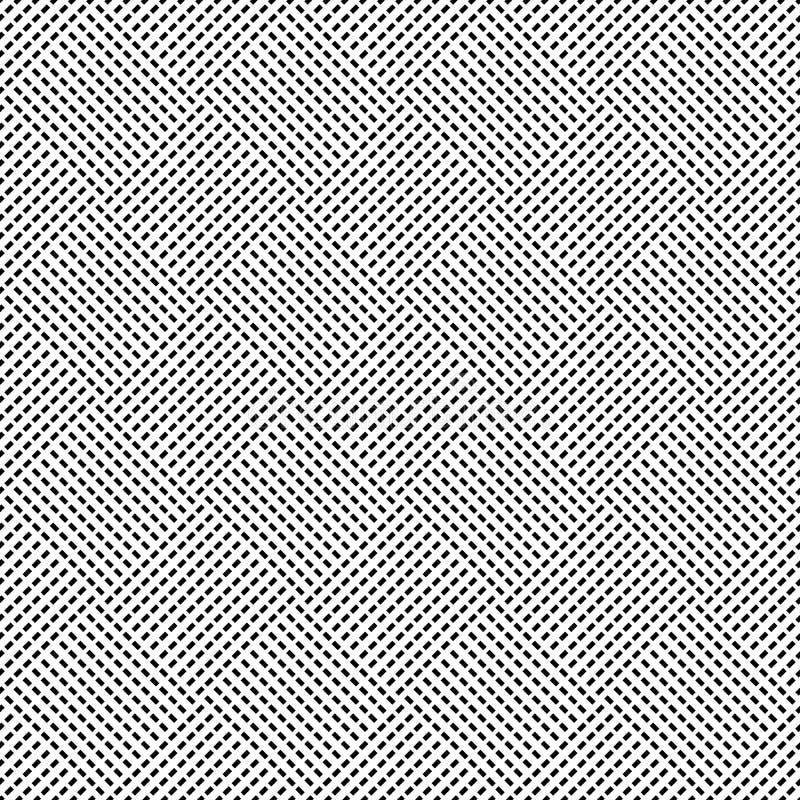 Naadloos (herhaalbaar) geometrisch abstract zwart-wit patroon til vector illustratie