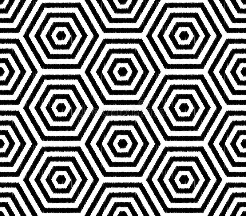 Naadloos het behangpatroon van het pret hexagonaal netwerk royalty-vrije illustratie