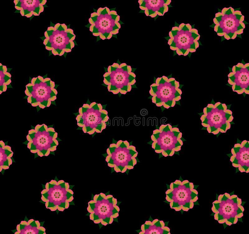 Naadloos het herhalen patroon van abstracte bloemen Vector vector illustratie