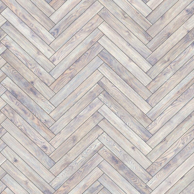 Naadloos houten de visgraatwit van de parkettextuur stock afbeelding
