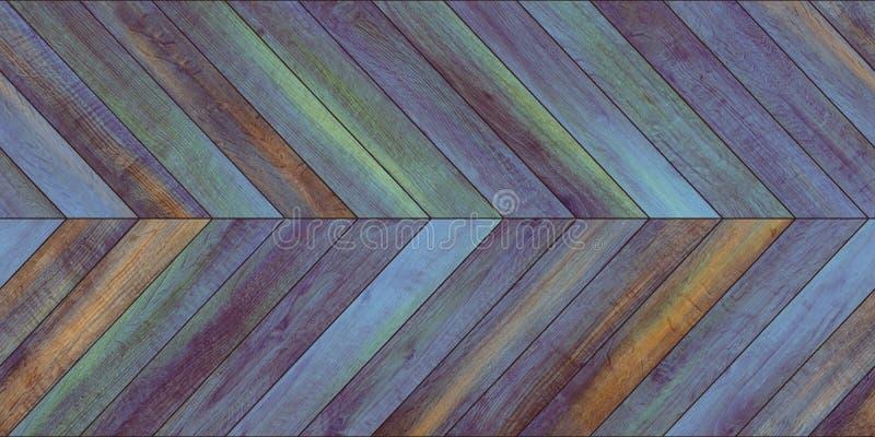 Naadloos houten horizontaal de chevron divers blauw van de parkettextuur royalty-vrije stock fotografie