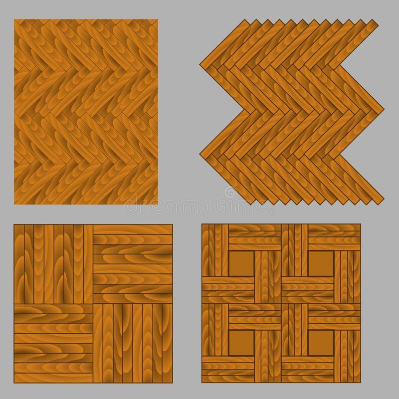 Naadloos houten parket royalty-vrije illustratie