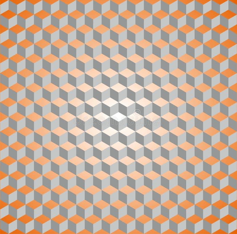 Naadloos isometrisch kubuspatroon stock fotografie