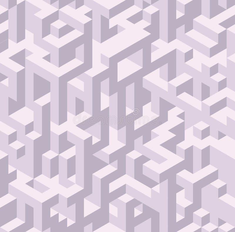 Naadloos isometrisch patroon royalty-vrije illustratie