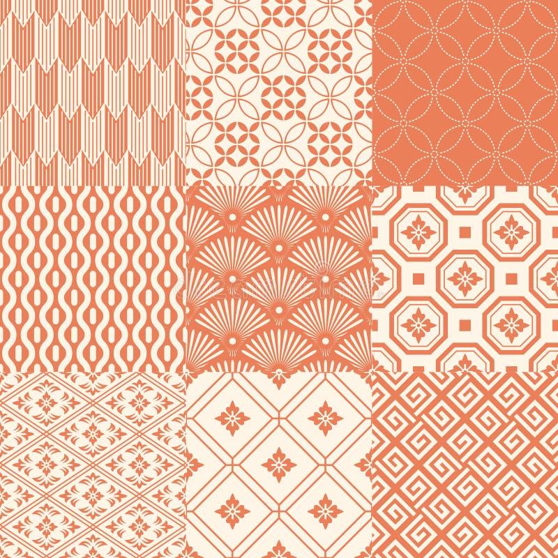 Naadloos Japans traditioneel patroon royalty-vrije illustratie