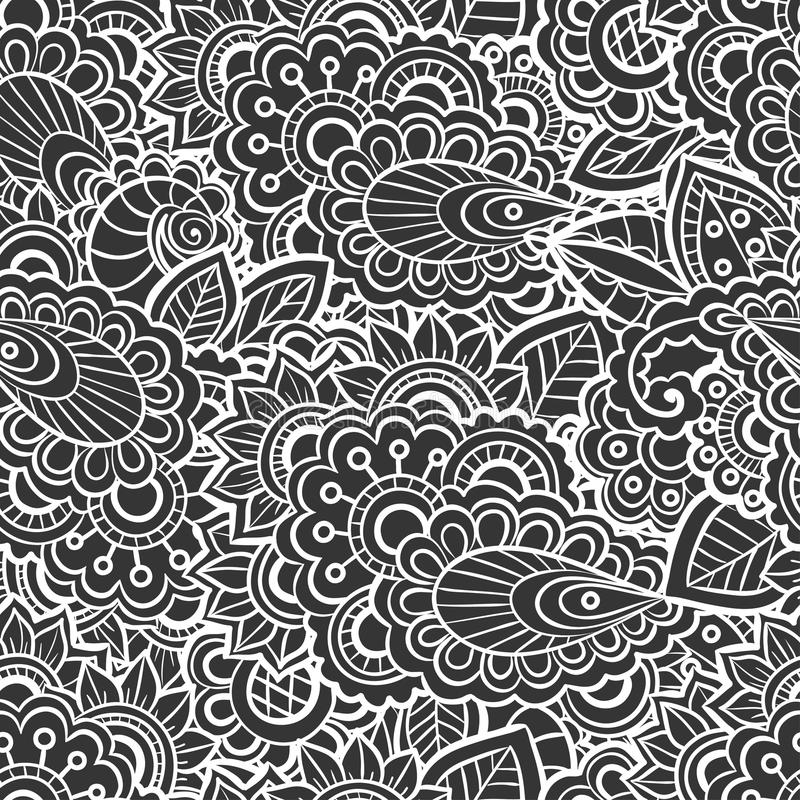 Naadloos kantpatroon vector illustratie