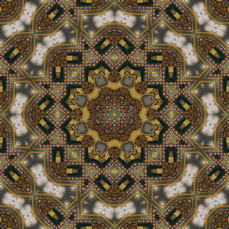 Naadloos Keltisch patroon 007 stock afbeeldingen