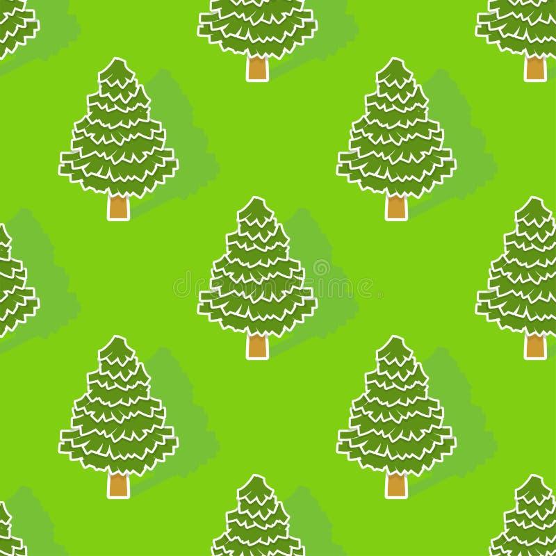 Naadloos kerstboompatroon De achtergrond van Kerstmis Nieuwe jaarspar royalty-vrije illustratie