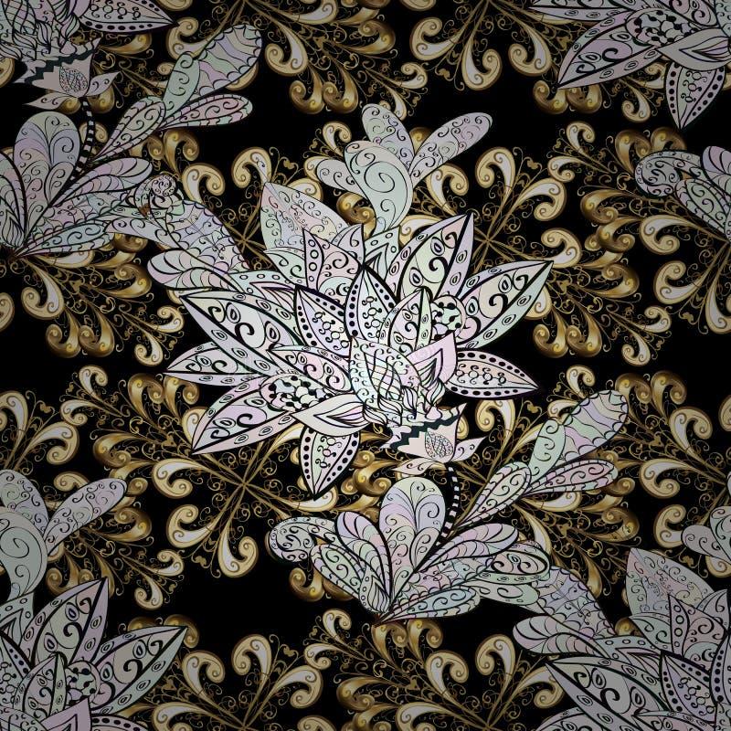 Naadloos klassiek vector gouden patroon stock illustratie