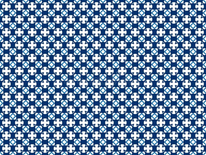 Naadloos kleurenpatroon van geometrische vormen van om het even welke vorm stock illustratie