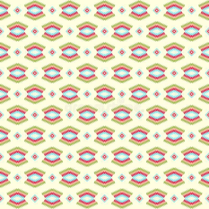 Naadloos kleurrijk Azteeks patroon vector illustratie