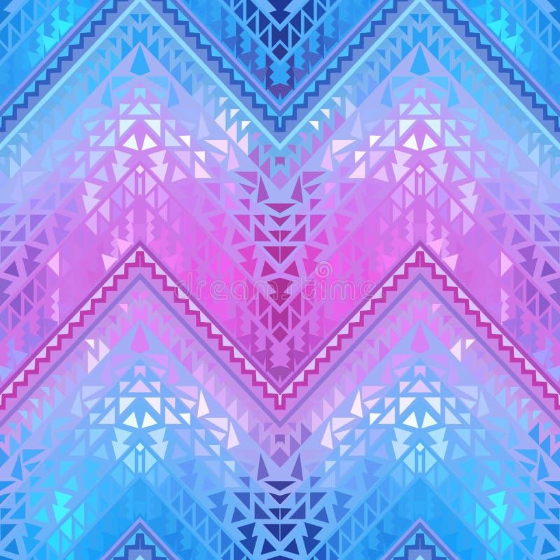 Naadloos kleurrijk etnisch patroon stock illustratie