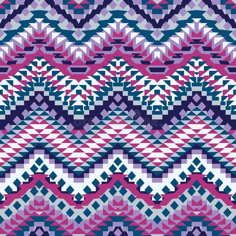 Naadloos kleurrijk etnisch patroon royalty-vrije illustratie