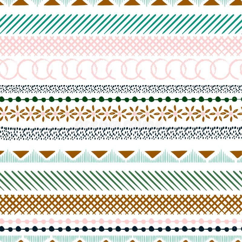 Naadloos kleurrijk patroon met geometrische vormen Driehoeken, cros vector illustratie