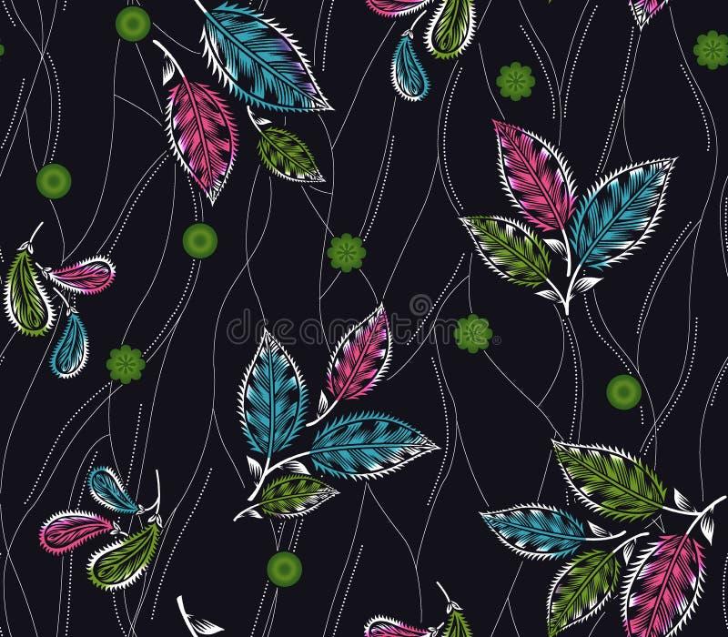 Naadloos kleurrijk traditioneel ontwerp met achtergrond royalty-vrije illustratie