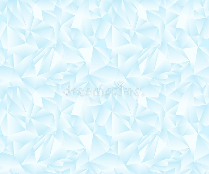 Naadloos kleurrijk veelhoekig patroon zacht licht ijs Lage polyachtergrond Veelhoekig Art. Behang van driehoeken stock illustratie