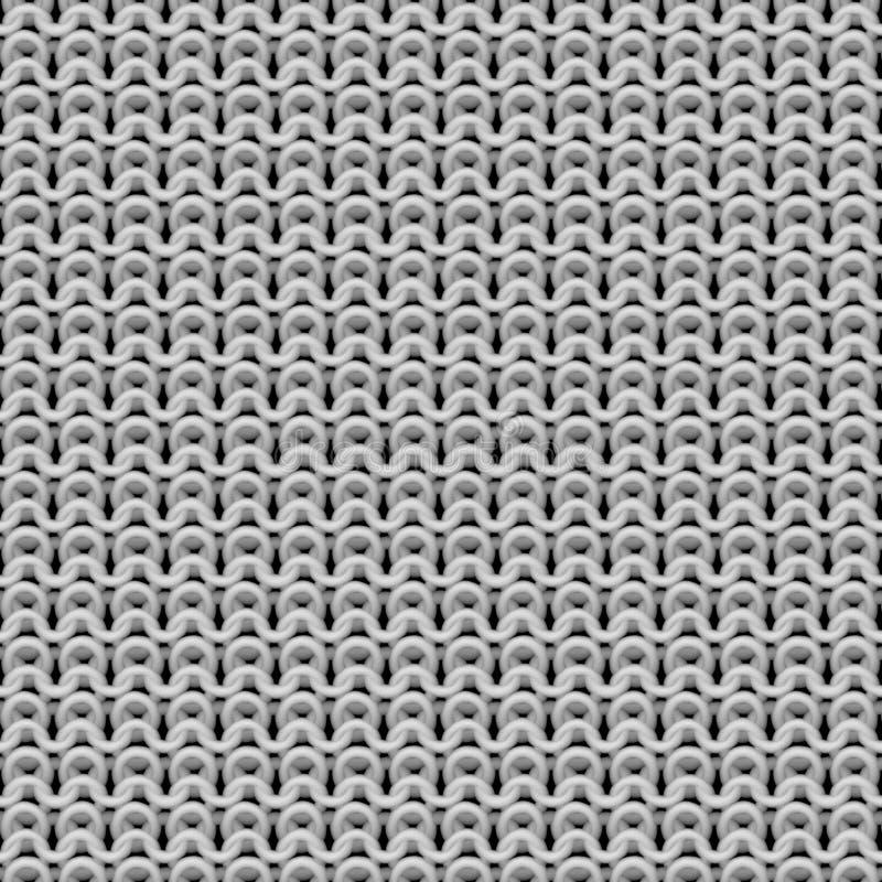 Naadloos knittware wit patroon royalty-vrije illustratie