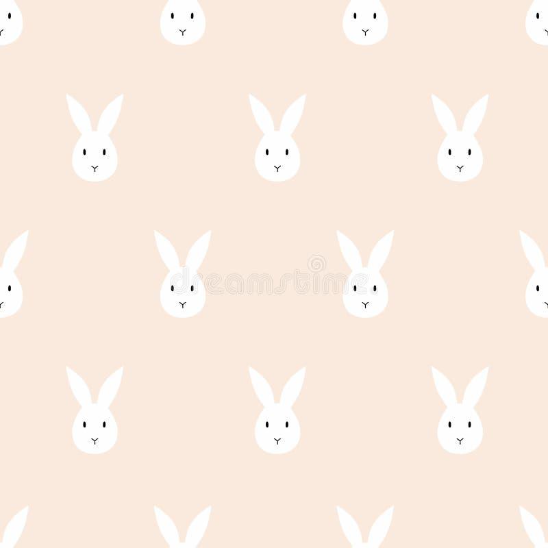 Naadloos konijnpatroon stock illustratie