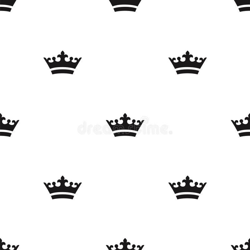 Naadloos kroonpatroon stock fotografie