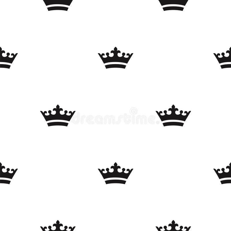 Naadloos kroonpatroon royalty-vrije stock afbeelding