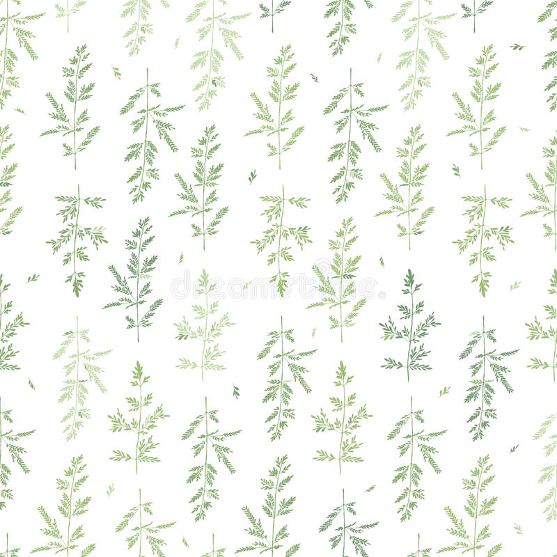 Naadloos kruidpatroon Abstracte Groene Takken vector illustratie