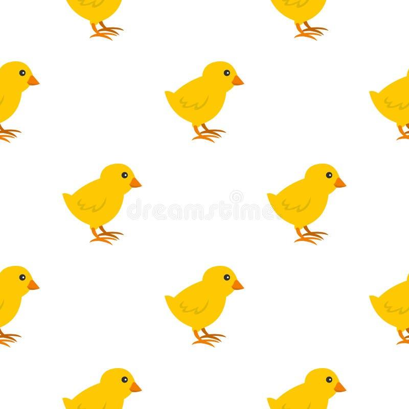 Naadloos kuikenpatroon vector illustratie