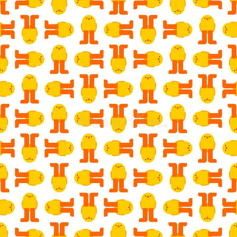 Naadloos kuikenpatroon E De Textuur van de babystof stock illustratie