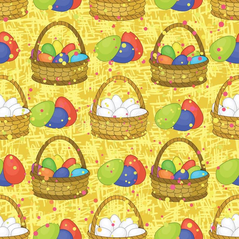 Download Naadloos, Mand Met Paaseieren Vector Illustratie - Illustratie bestaande uit diner, viering: 29513582