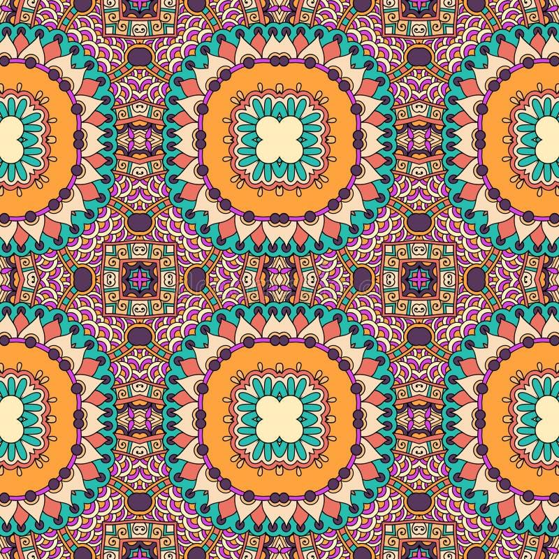 Naadloos meetkunde uitstekend patroon, etnische stijl vector illustratie