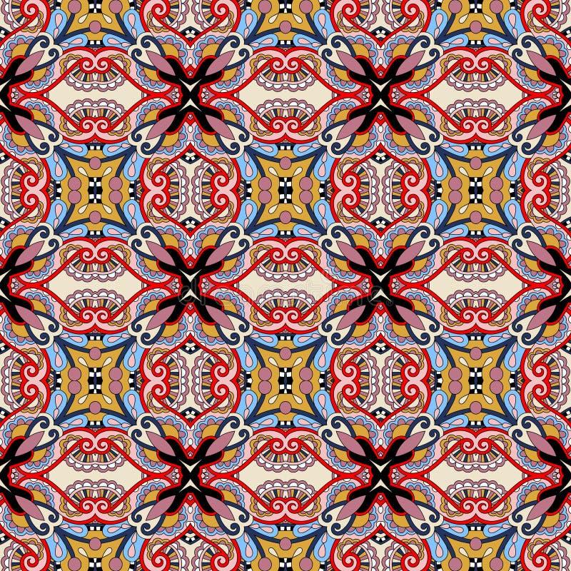 Naadloos meetkunde uitstekend patroon, etnische stijl royalty-vrije illustratie
