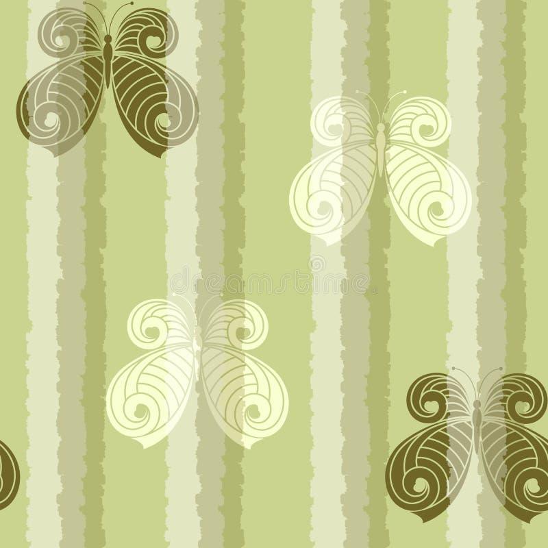 Naadloos met vlinders stock illustratie