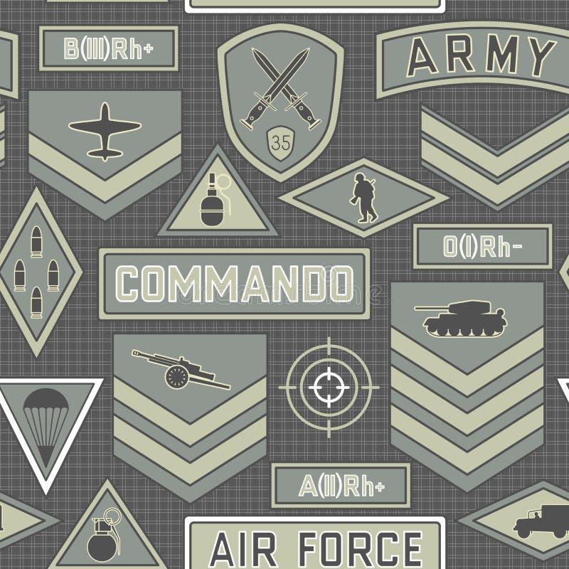 Naadloos militair patroon 10 vector illustratie