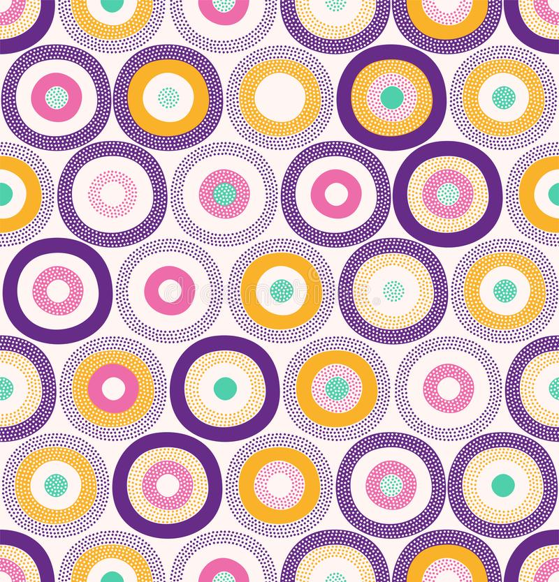 Naadloos Modieus Kleurrijk Abstract Vlekken & Dots Pattern Surface Design royalty-vrije illustratie
