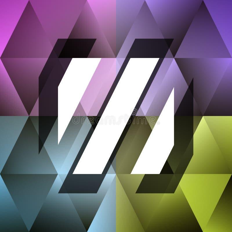 Naadloos modieus patroon met geometrische vormen royalty-vrije illustratie
