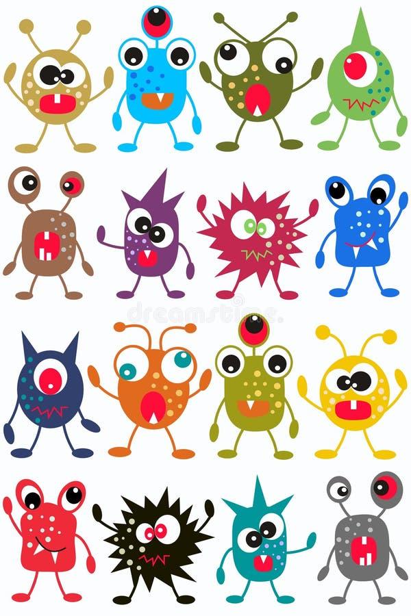 Naadloos monsterpatroon royalty-vrije illustratie