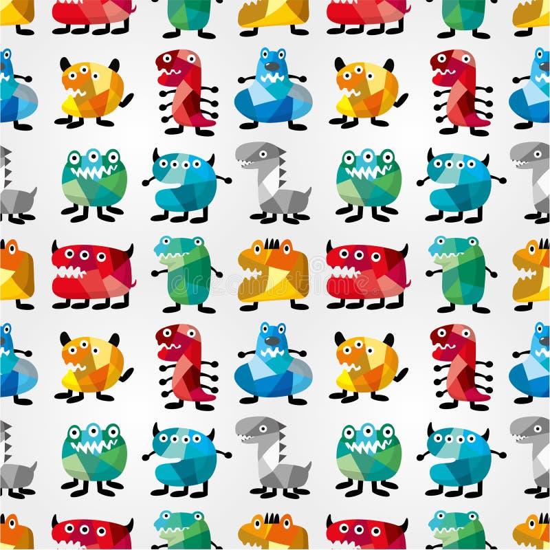 Naadloos monsterpatroon stock illustratie