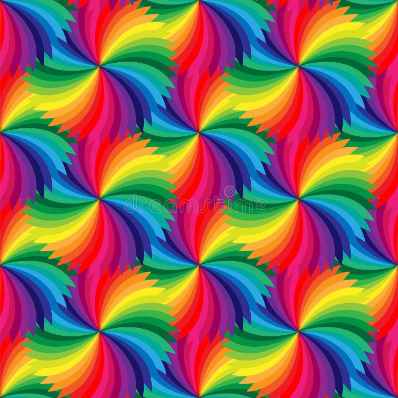 Naadloos Mooi Kleurrijk Geometrisch patroon Geschikt voor textiel, stof en verpakking stock illustratie