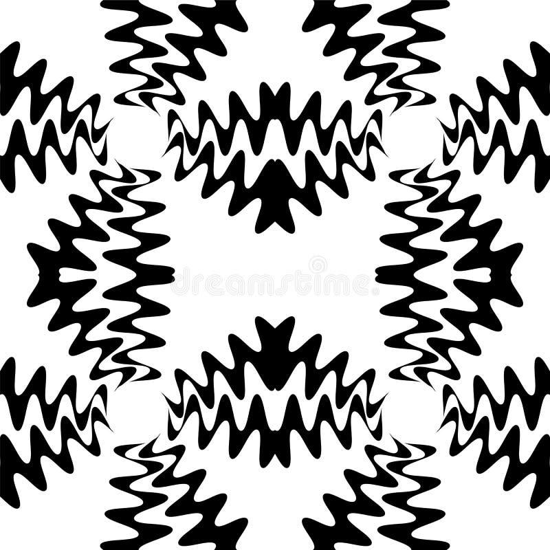 Naadloos Mooi Zwart Golvenpatroon Geometrische abstracte achtergrond Geschikt voor textiel, stof, verpakking en Web ontwerp stock illustratie