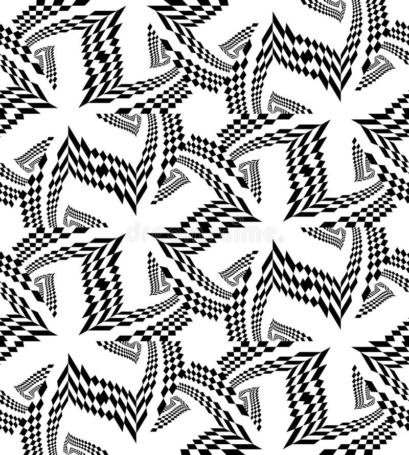 Naadloos Mooi Zwart Veelhoekig Patroon op Wit Geometrische abstracte achtergrond stock illustratie