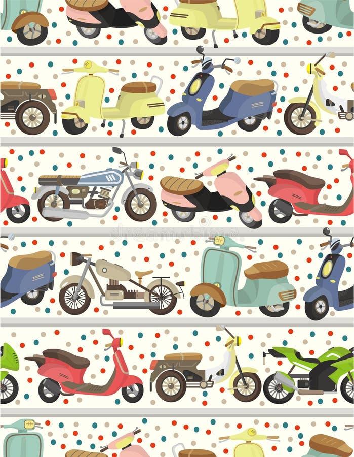 Naadloos motorfietspatroon vector illustratie