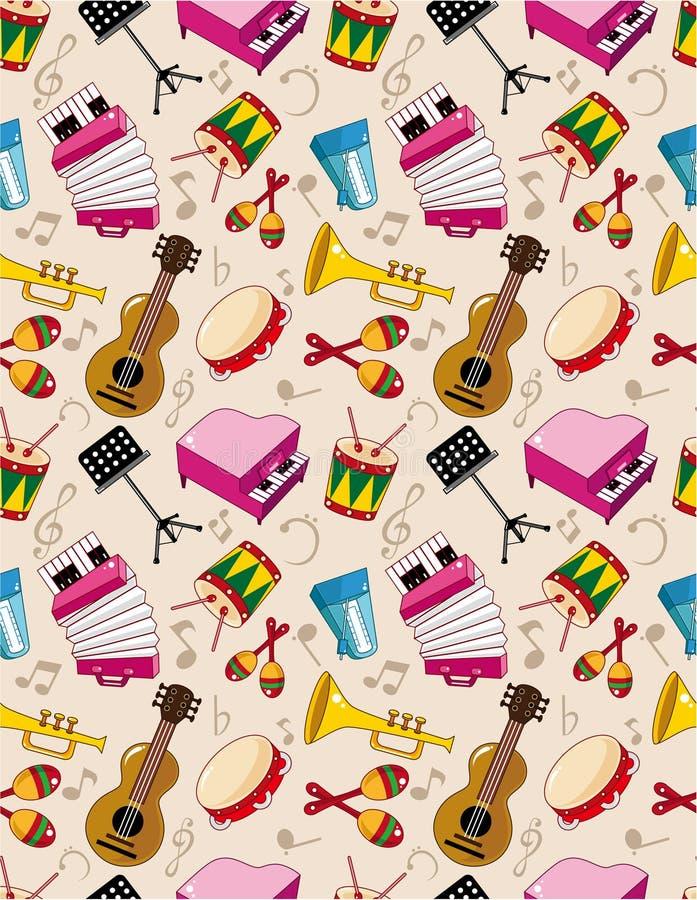 Naadloos muziekpatroon vector illustratie