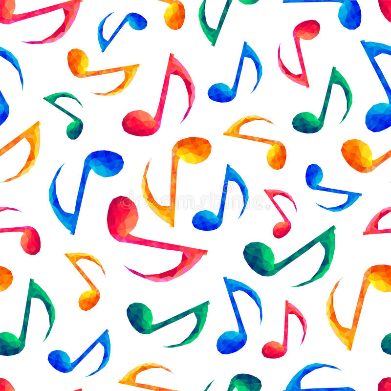 Naadloos muzikaal patroon - nota's royalty-vrije illustratie